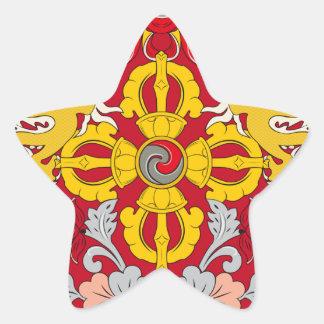 Emblem of Bhutan (རྒྱལ་ཡོངས་ལས་རྟགས་) Star Sticker