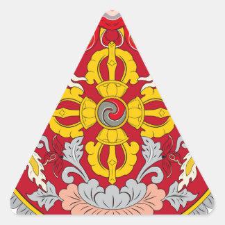 Emblem of Bhutan (རྒྱལ་ཡོངས་ལས་རྟགས་) Triangle Sticker