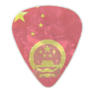 Emblem of China Pearl Celluloid Guitar Pick
