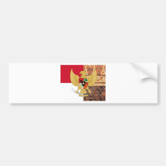 Emblem of Indonesia - Garuda Pancasila  Batik Flag Bumper Sticker