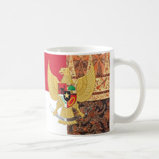 Emblem of Indonesia - Garuda Pancasila  Batik Flag Coffee Mug