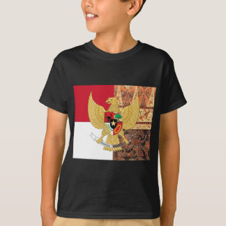 Emblem of Indonesia - Garuda Pancasila  Batik Flag T-Shirt