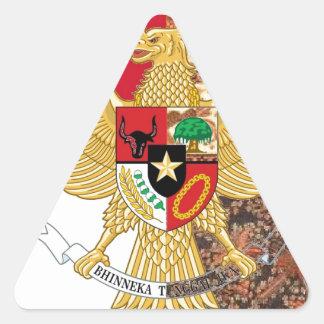 Emblem of Indonesia - Garuda Pancasila  Batik Flag Triangle Sticker