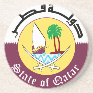 Emblem_of_Qatar Drink Coasters