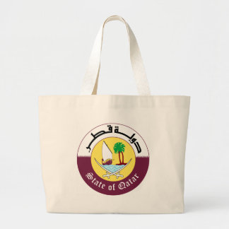Emblem_of_Qatar Large Tote Bag