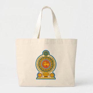Emblem_of_Sri_Lanka Large Tote Bag