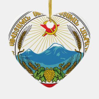 Emblem of the Armenian Soviet Socialist Republic Ceramic Ornament