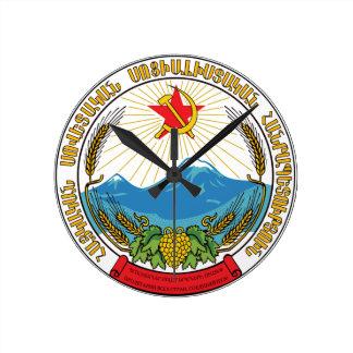 Emblem of the Armenian Soviet Socialist Republic Round Clock