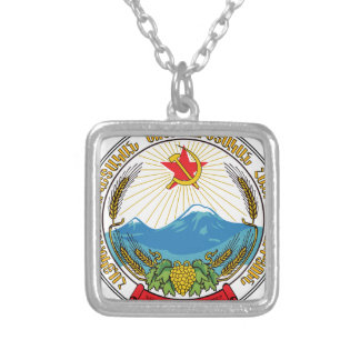 Emblem of the Armenian Soviet Socialist Republic Silver Plated Necklace