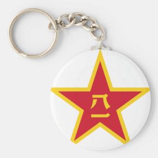 Emblem of the Chinese PLA - 中国人民解放军军徽 Basic Round Button Keychain