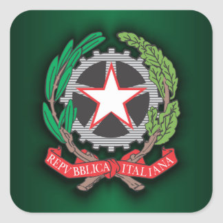 Emblem of the Italian Republic Square Sticker