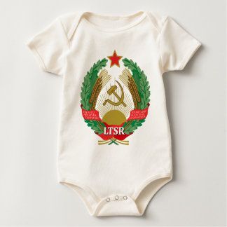Emblem of the Lithuanian SSR - Lietuvos TSR Herbas Baby Bodysuit
