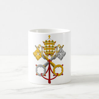 Emblem of the Papacy Official Pope Symbol Coat Classic White Coffee Mug