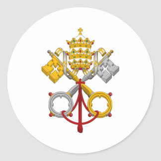 Emblem of the Papacy Official Pope Symbol Coat Classic Round Sticker