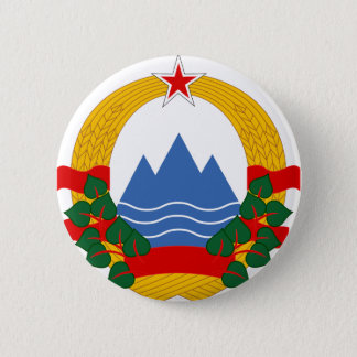 Emblem of the Socialist Republic of Slovenia 2 Inch Round Button