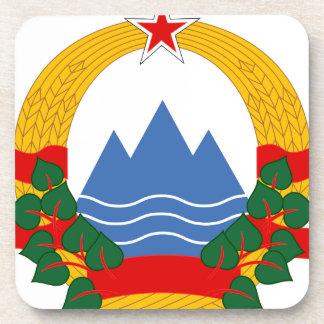 Emblem of the Socialist Republic of Slovenia Coaster