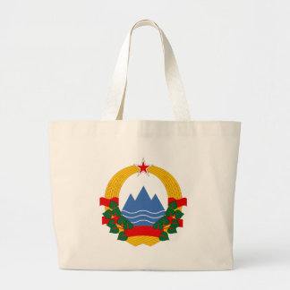 Emblem of the Socialist Republic of Slovenia Large Tote Bag