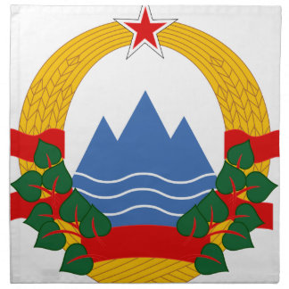 Emblem of the Socialist Republic of Slovenia Napkin