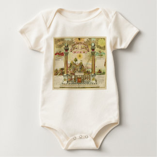Emblematic Chart and Masonic History of FAM Baby Bodysuit