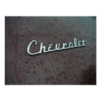 Emblème 1948 de tronc de Chevy Posters
