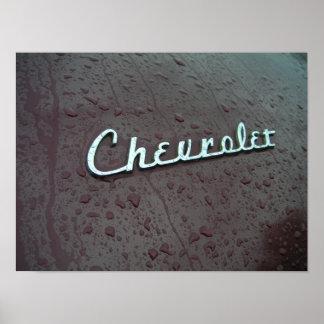 Emblème 1948 de tronc de Chevy Poster