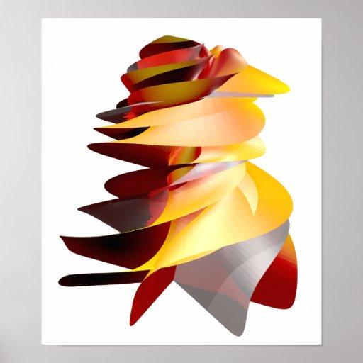 Emblème abstrait du feu posters