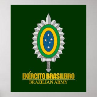 Emblème brésilien d'armée posters
