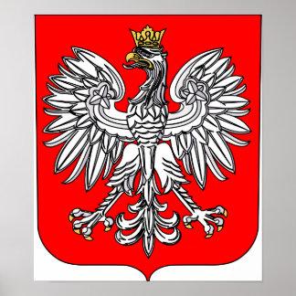 Emblème d'affiche de la Pologne Poster