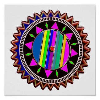Emblème de BOUSSOLE de bijou Poster