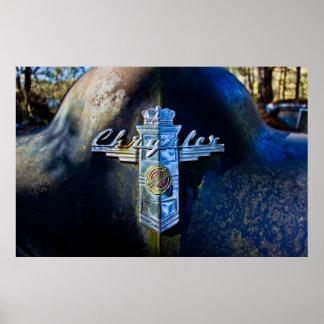 Emblème de capot de Chrysler Poster