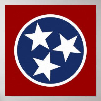 Emblème de drapeau du Tennessee Posters