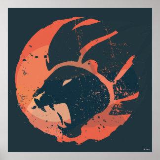 Emblème de garde de lion poster
