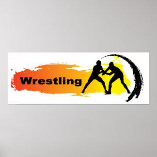 Emblème de lutte unique poster