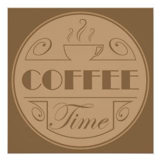Emblème de temps de café perfect poster