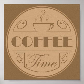Emblème de temps de café poster