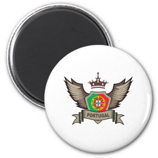 Emblème du Portugal Magnet Rond 8 Cm