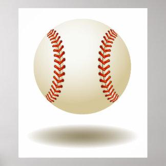 Emblème frais de base-ball poster