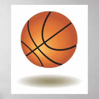 Emblème frais de basket-ball poster