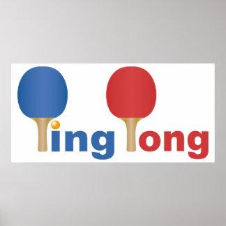 Emblème frais de ping-pong poster