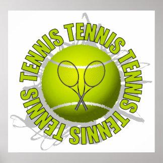 Emblème frais de tennis poster