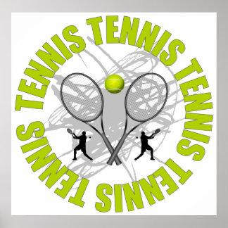 Emblème gentil de tennis poster