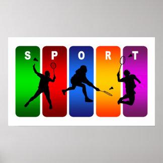 Emblème multicolore de badminton