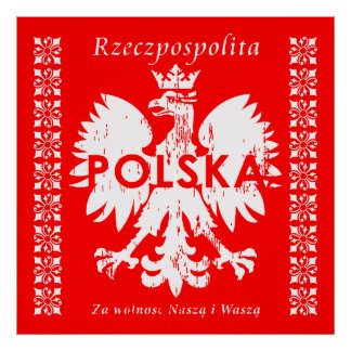 Emblème polonais de la Pologne Rzeczpospolita