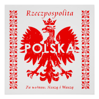 Emblème polonais de la Pologne Rzeczpospolita Posters