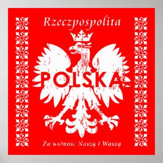 Emblème polonais de la Pologne Rzeczpospolita Poster