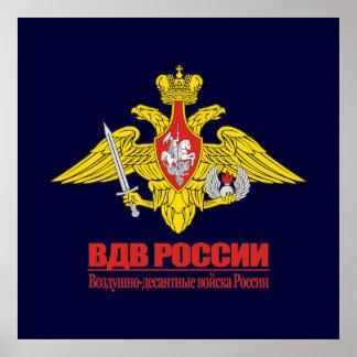 """""""Emblème russe de forces aéroportées """" Poster"""