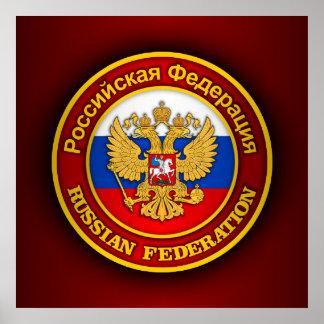 Emblème russe poster