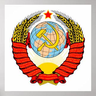 Emblème soviétique affiches