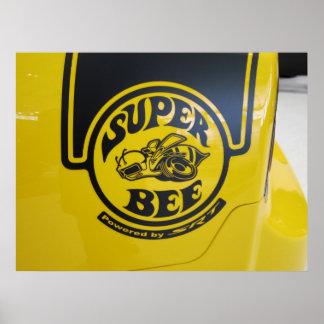 Emblème superbe d'abeille du chargeur SRT de Dodge Poster