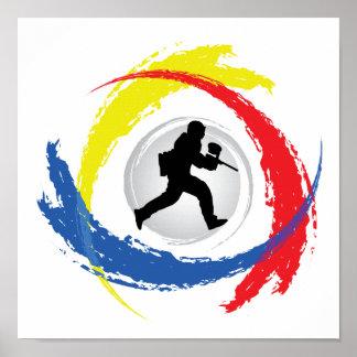 Emblème tricolore de Paintball Poster
